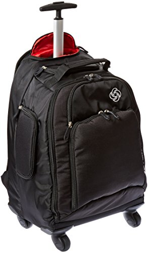 (Samsonite Luggage Mvs Spinner Backpack, Black)