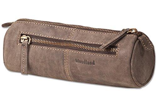 Woodland - Stylos-roll du soft, chamois non traitée dans brun foncé / Taupe