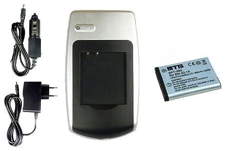 Batería + Cargador EN-EL19 para Nikon S3500, S4100, S4150, S4300, S5200, S6400, S6500
