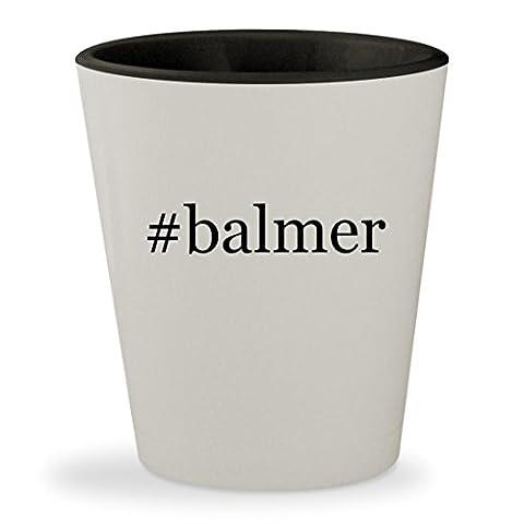 #balmer - Hashtag White Outer & Black Inner Ceramic 1.5oz Shot Glass (Balmer Swiss Noble Watch)