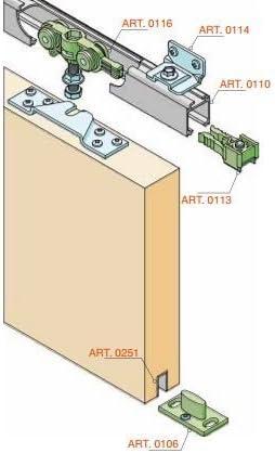 Puerta corredera kit de montaje + Rail 200 cm elox. Con 4 ángulo para 40 kg en calidad profesional: Amazon.es: Bricolaje y herramientas