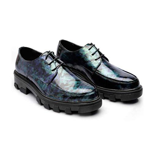 De De La con Los Cuero De Juventud Redonda De Hombres Informal Camouflageblue Cordones La De LYZGF Cabeza Zapatos De Moda La Verano zatnxg