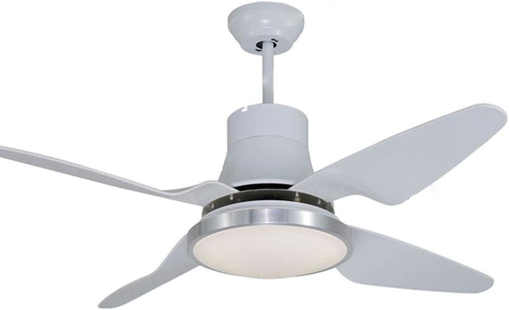 ZHJ Luz de Ventilador de Techo LED Minimalista Moderna con luz de Ventilador Sala de Estar luz de Ventilador silenciosa de baño/Ventilador de Techo Luz del Ventilador de Techo