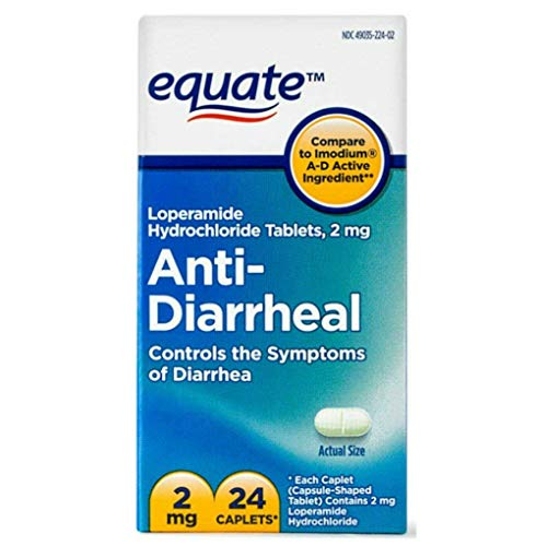 Equate - Anti-Diarrheal, Loperamide Hydrochloride (HCl) 24 Caplets (Compare to Imodium A-D)