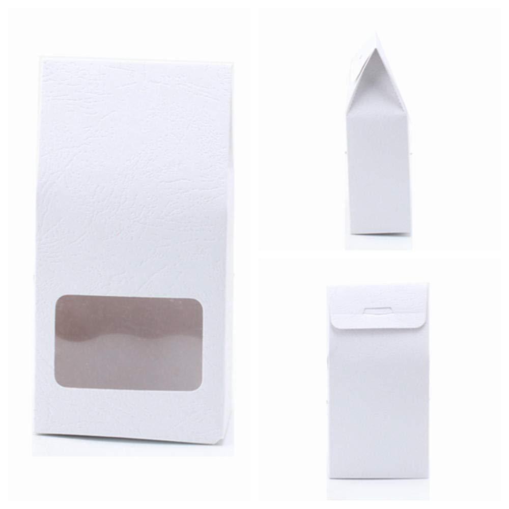 50Pc Caja De Regalo De Papel Kraft Bolsas Papel Marr/ón Stand Up Bolsas Ventana para Boda//Regalo//Joyer/ía//Comida//Bolsas De Embalaje De Dulces 8X15.5X5Cm