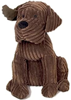 Large Heavy Ribbed Plush Fabric Dog Puppy Door Stop Home Office Brown