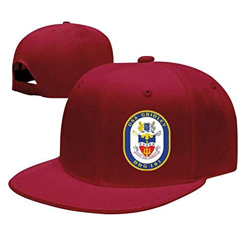 - Knwazz USS Gridley DDG-101 Baseball Cap Adjustable Trucker Hat Dad Hat Red
