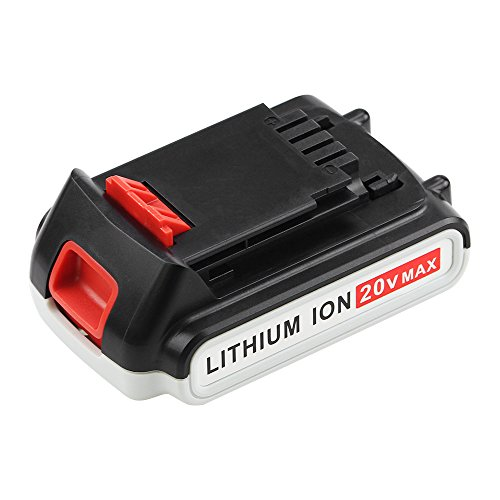 Replace for Black and Decker 20V Battery Lithium-Ion Max 2000mah LBXR20 LST220 LB20 LBX20 LBXR2020-OPE Cordless Tool Battery SUN POWER (Lithium Ion 20v Battery Max)