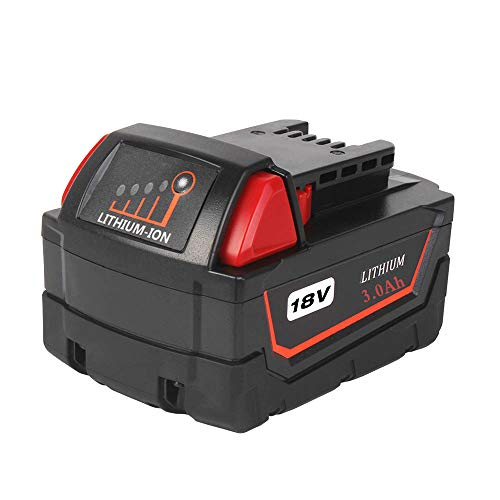 18V 3.0Ah Replacement Li-ion Battery for Milwaukee m 18 48-11-1815 48-11-1828 48-11-1830 48-11-1890 Cordless Power Tools -  HOMEDAS Direct