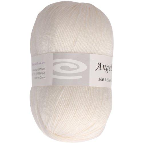 Elegant Yarns Q105-3301 Angelic Yarn, Snow White