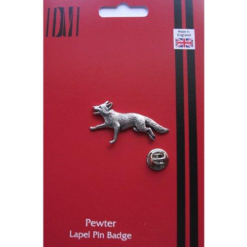 Pewter Fox - Running Fox Pewter Lapel Pin Badge