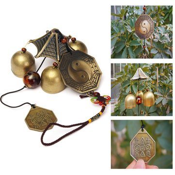Outdoor Wind Chimes - Garden Wind Chimes - Antique Bronze Gossip Wind Chime Outdoor Garden Wind Chimes Three Bells (Wind Chimes Bells) ()