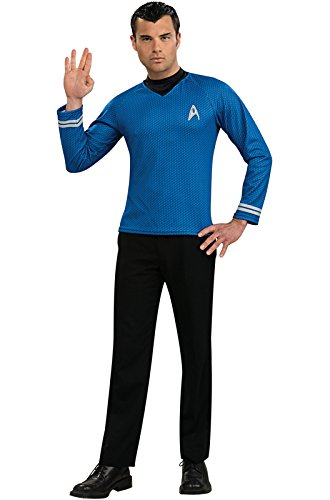 Rubie's Costume Star Trek Into Darkness Spock Shirt With Emblem, Blue, Large