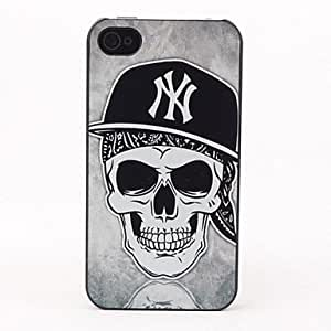 DUR Skull In Hat Style Protective Back Case for iPhone 4/4S