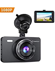 Crosstour 1080P Full HD Dash Cam In Car Security Dashboard Camera DVR with F1.8 Super Big Aperture Night Vision 170° Wide Angle HDR Motion Detection and G-sensor