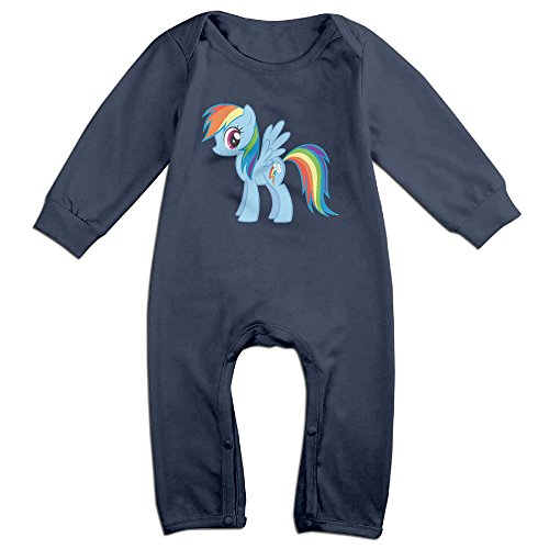 (OLGB Babys Rainbow Dash Pony Long Sleeve Romper Bodysuit 6 M)