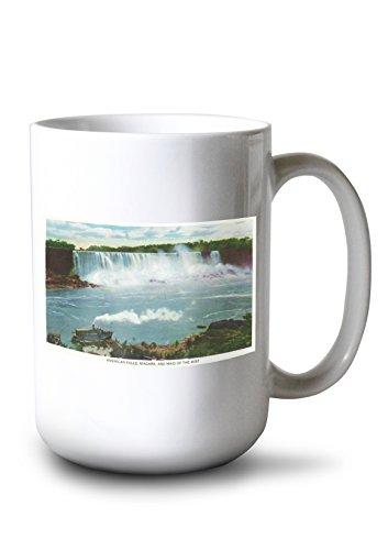 Lantern Press Niagara Falls, New York - American Falls Maid of The Mist View (15oz White Ceramic Mug) ()
