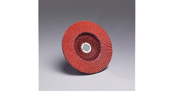 Orange 3M 20280 Flap Disc 947D T29 4-1//2 x 7//8 Ceramic 80 X-Weight