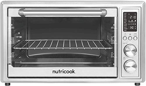 Nutricook Smart Air Fryer Oven by Nutribullet, 1800 Watts, LED Control Panel Display, 12-in-1 Multi use Air Fryer Toaster Oven with 12 Presets, 30 Liters, Brushed Stainless Steel, 2 Years Warranty