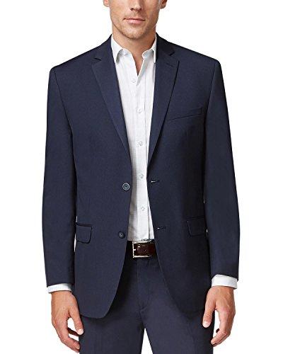 Bar III Mens Wool Blend Extra Slim Fit Two-Button Blazer Navy (Three Button Wool Blazer)
