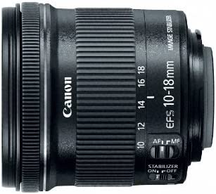 Canon EF-S 10-18mm f/4.5-5.6 IS STM Lens for Canon Digital SLR Cameras