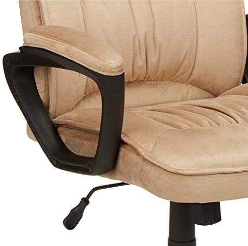 AmazonBasics Classic Office Chair - Adjustable, Swiveling, Microfiber Cover - Light Beige by AmazonBasics (Image #5)