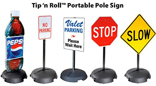 Tip'n Roll Portable Sign Pole