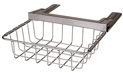 Shelves That Slide - Rubbermaid Slide-Out Under-Shelf Storage Basket, Titanium (FG1H3200TITNM)