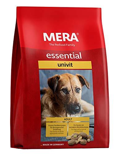 MERA essential Hundefutter > Univit < Für ausgewachsene Hunde mit normalem Aktivitätsniveau – Mix-Menü Trockenfutter mit…