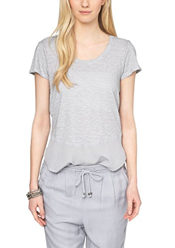 s.Oliver 14.503.32.2189 - Camiseta Mujer Grau (silky grey 9105)