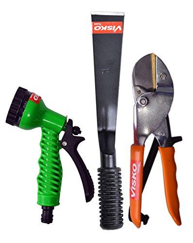 Visko GTK Garden Tool Set (Orange, Green and Black, 3-Pieces)
