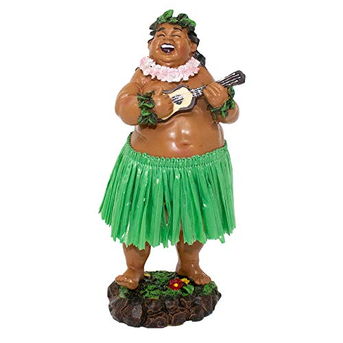 "KC Hawaii Dashboard Hula Doll Local Boy with Ukulele 7"""