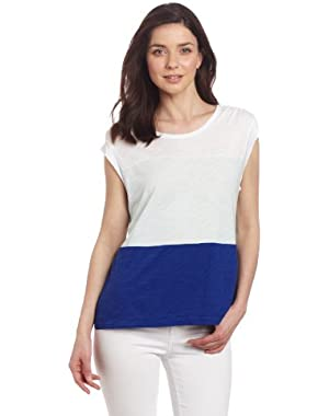 Calvin Klein Jeans Women's Petite Color Block Top