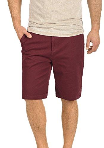 Hombre Bermuda 0985 Corto fit Wine De Elástico Chino Pantalones Pantalón Red Tela solid Regular Lamego Para wIqZzz