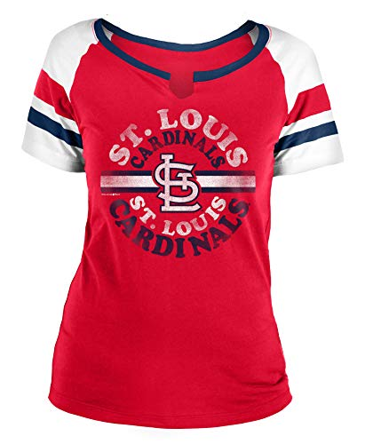 (New Era St. Louis Cardinals Women's MLB Line Drive Short Sleeve Fashion Shirt)