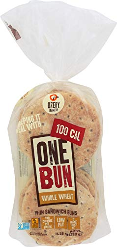 Ozery Bakery 100 Cal One Bun Whole Wheat, Low Fat Thin Sandwich Buns Pre-sliced, 11.25 Ounce (pack Of 6) ()