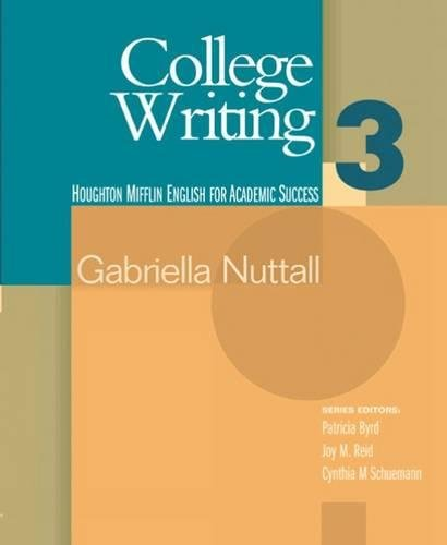 College Writing 3 (Houghton Mifflin English for Academic...
