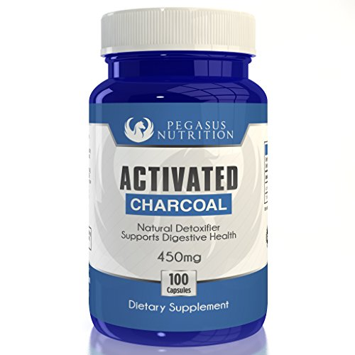 Activated Charcoal 450mg - 100 Capsules - Detox & Digestive Health - 100% Money Back Guarantee