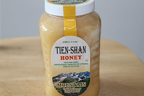 Tien-Shan Organic Mountain and Flower Honey Unprocessed Unheated or strained free of pesticide (Tien-Shan Organic Mountain Honey Plastic Container, 35,3 OZ.)