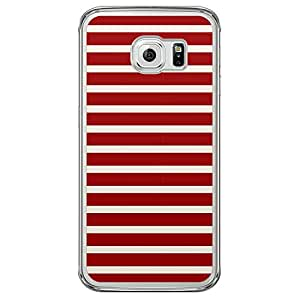 Loud Universe Samsung Galaxy S6 Edge Nautical Nautical 4 Transparent Edge Case - Red/White