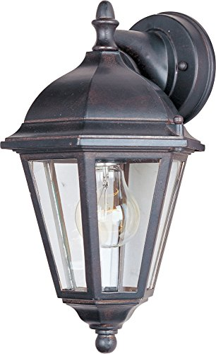 (Maxim 1000EB Westlake Cast 1-Light Outdoor Wall Lantern, Empire Bronze Finish, Clear Glass, MB Incandescent Incandescent Bulb , 60W Max., Dry Safety Rating, Standard Dimmable, Glass Shade Material, 6048 Rated Lumens )