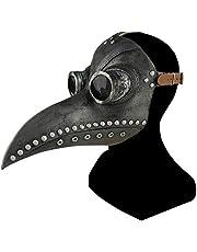 un know Halloween Plague Doctor Bird Mask Long Nose Beak Cosplay Retro Steampunk Props for Halloween Costume Props