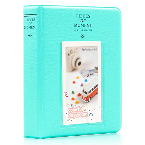 Ablus 64 Pockets Mini Photo Album for Fujifilm Instax Mini 7s 8 8+ 9 25 26 50s 70 90 Instant Camera & Name Card (64 Pockets, Mint n)
