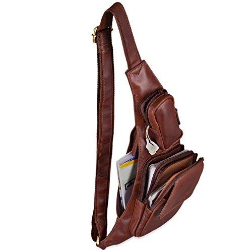 Stilord Pelle Backpack Marrone Pollici Mono 8 Scuro Tracolla Camera Borsa Zaino Donna Cognac Pc A Uomo Tablet Zainetto In 'adrian' spalla 4 qFRv4rtqc