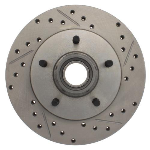 StopTech 227.62013L Select Sport Drilled and Slotted Brake Rotor; Front Left - Regal Plus Bite