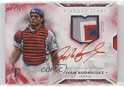 Amazoncom Ivan Rodriguez 15 Baseball Card 2018 Topps