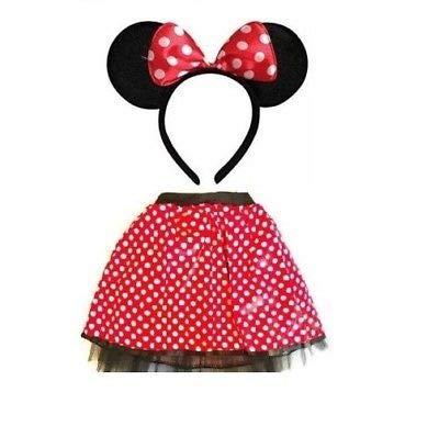 Disfraz de Minnie Mouse de Disney, para adultos, con orejas y tutú ...