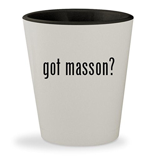 got masson? - White Outer & Black Inner Ceramic 1.5oz Shot - Masson Liquor Paul