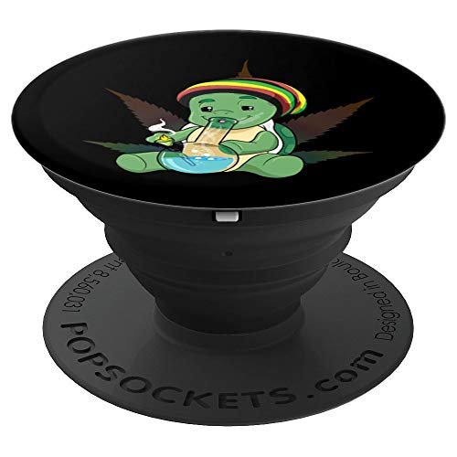 Weed Turtle Pothead Gift Cannabis Marijuana & Dope - PopSockets Grip and Stand for Phones and Tablets (Best Gifts For A Pothead)