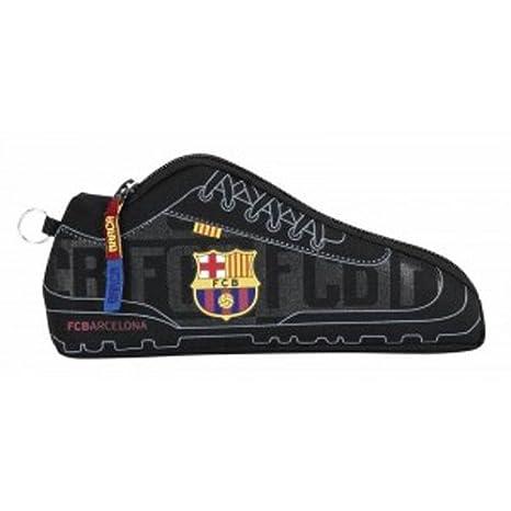 FC Barcelona - Estuche escolar negra forma zapatos Foot FCB ...